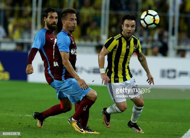 Valbuena of Fenerbahce in action during Turkish Super Lig soccer match between Fenerbahce and Trabzonspor at the Ulker Stadium in Istanbul Turkey on...