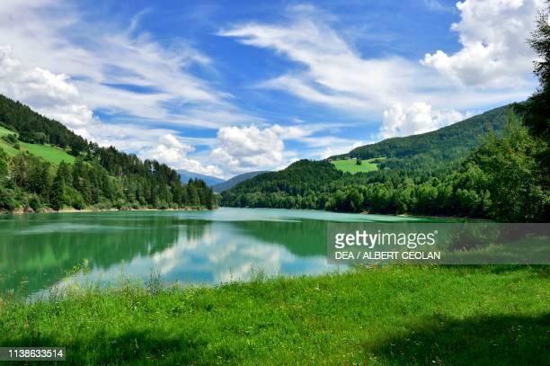 Valdaora lake or Monguelfo lake Puster valley TrentinoAlto Adige Italy