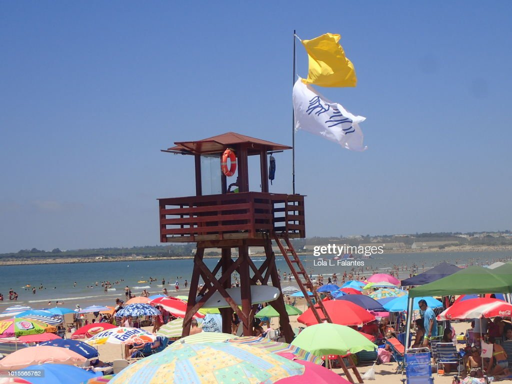 Valdelagrana beach, Cádiz, Spain : Foto de stock