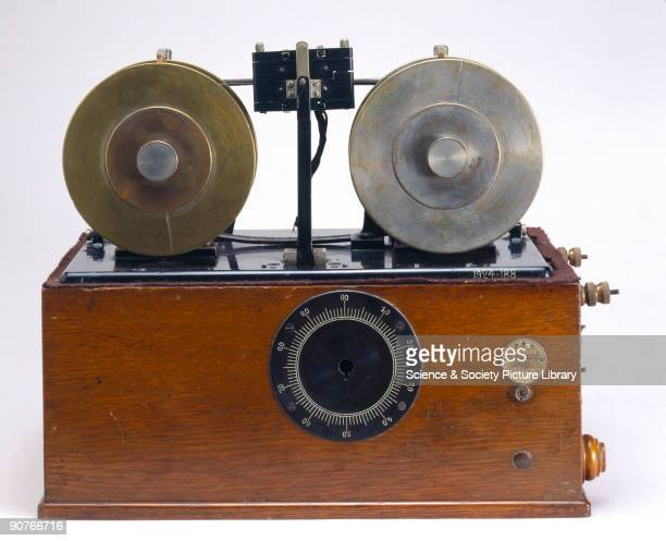 Valdemar Poulsen Danish inventor of magnetic recording produced his first machine a magnetic version of phonograph using a cylinder wrapped with...
