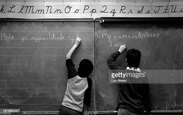 MAR 30 1987 Valdez Elementary School Bilingual classroom teacher is Elaine Madera Juan Estrada and Anthony Vasquez write an introduction to...