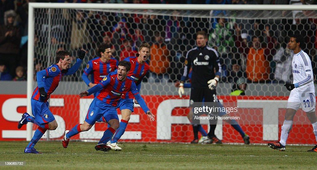 FC Viktoria Plzen v FC Schalke 04 - UEFA Europa League Round of 32 : News Photo