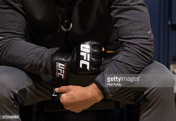 Valdir Araujo gets his hands wrapped before facing Steve Carl during the filming of The Ultimate Fighter American Top Team vs Blackzilians on...