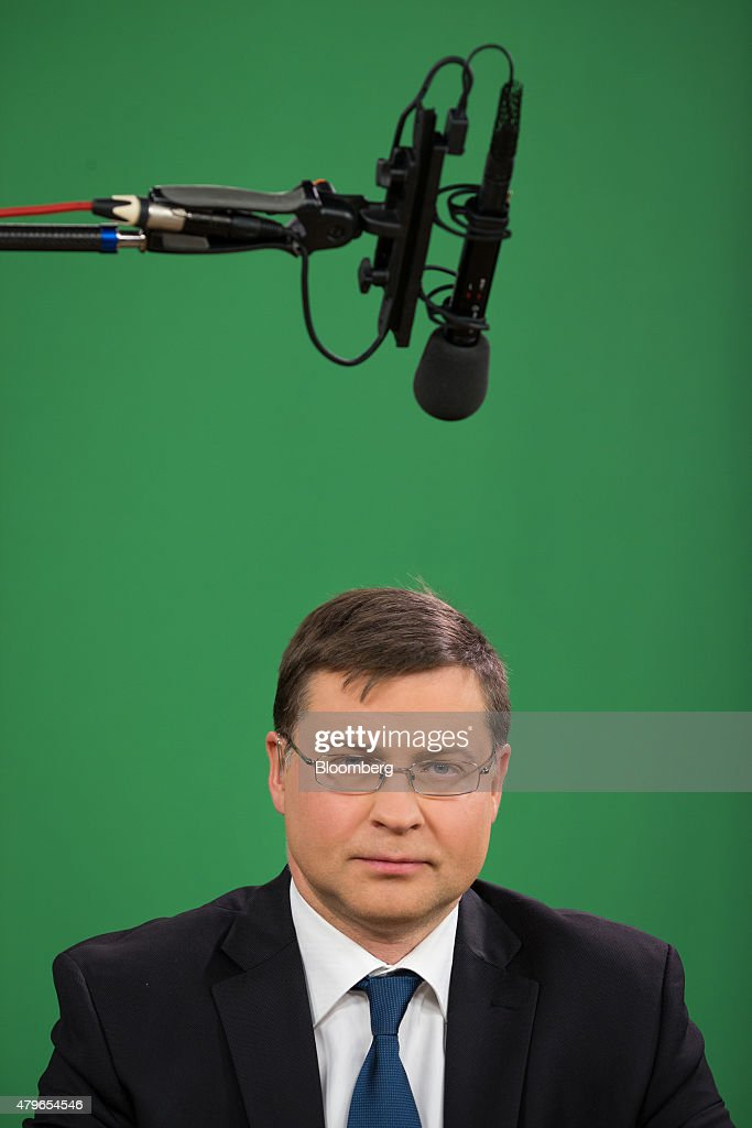 Vice President Of The European Commission Valdis Dombrovskis Interview