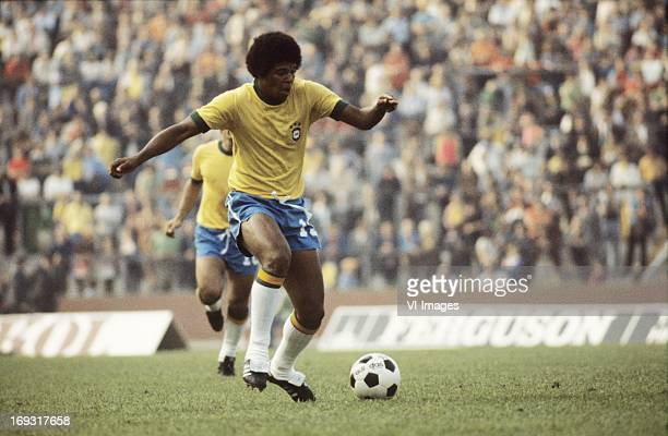 Valdomiro during the FIFA World Cup match between Zaire and Brazil on June 22 1974 at the Parkstadion in Gelsenkirchen Germany