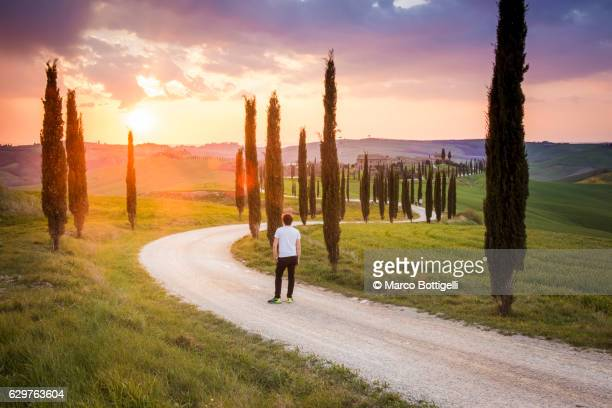 valdorcia, siena, tuscany, italy. - siena italy stock photos and pictures