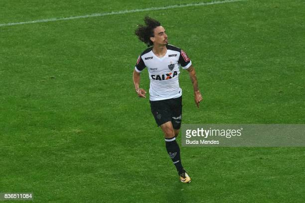 Valdvia of Atletico MG celebrates a scored goal during a match between Fluminense and Atletico MG part of Brasileirao Series A 2017 at Maracana...