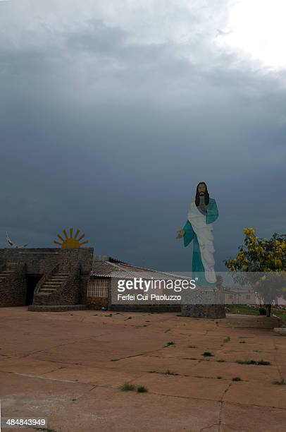 vale do amanhecer brasilia brazil - jesus calming the storm stock pictures, royalty-free photos & images