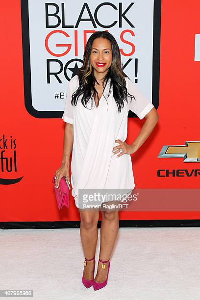 Valeisha Butterfield Jones attends the BET's Black Girls Rock Red Carpet sponsored by Chevrolet at NJPAC – Prudential Hall on March 28 2015 in Newark...