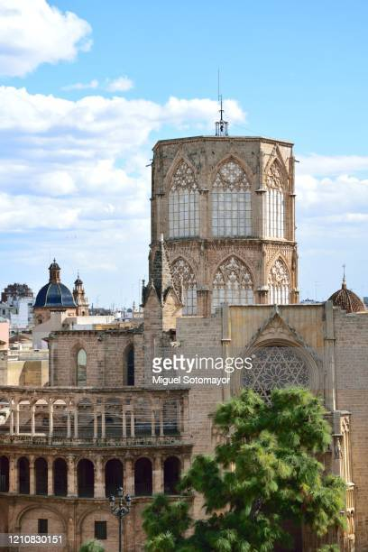 valencia cathedral - valencia stock pictures, royalty-free photos & images