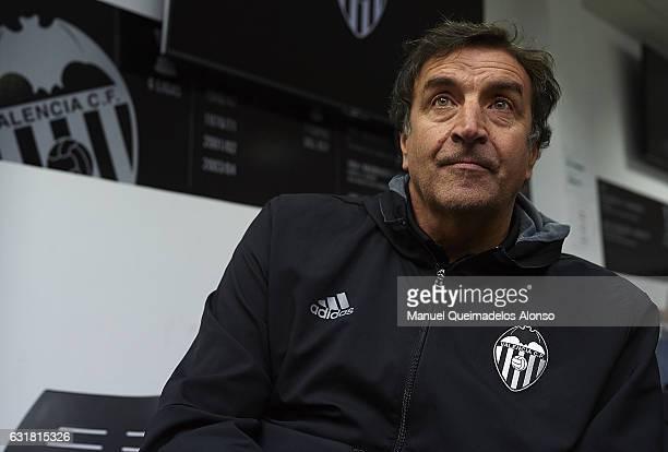 Valencia CF General Manager Jose Ramon Alexanco attends the presentation of a new Valencia CF player Simone Zaza at Paterna Training Centre on...