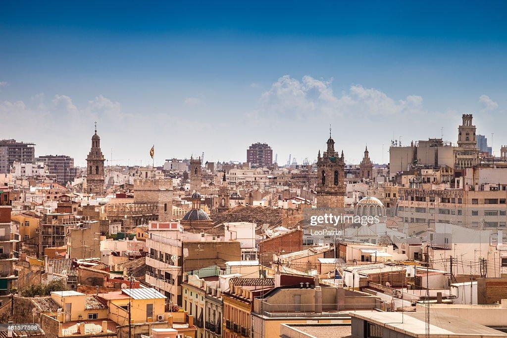 バレンシアの街にある美しい日 : ストックフォト