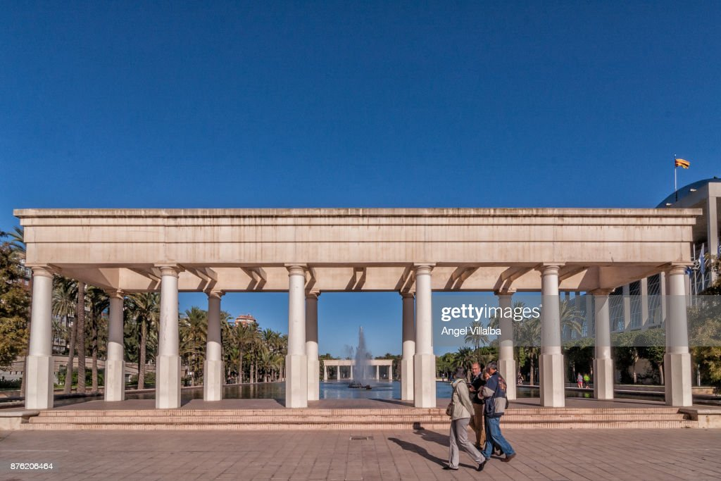 Valencia, gardens of the Turia : Foto de stock