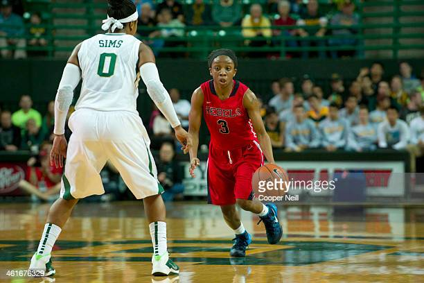 Valencia McFarland of the Mississippi Lady Rebels brings the ball up court against the Baylor Bears on December 18 2013 at the Ferrell Center in Waco...