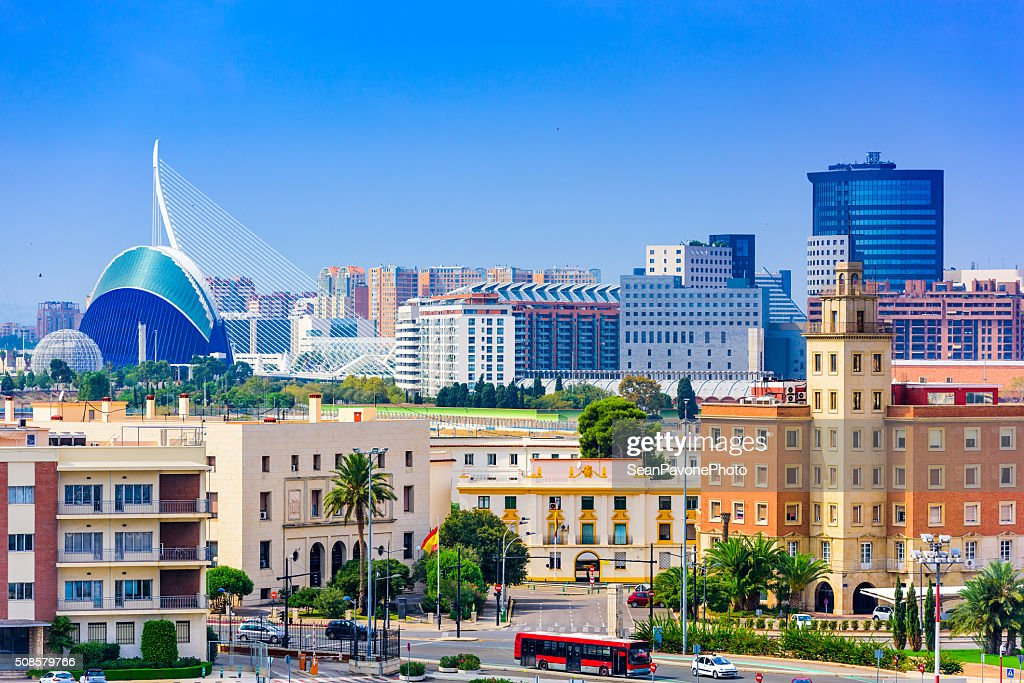 Valencia Spain Skyline : Stock Photo