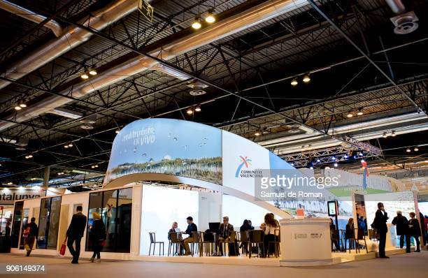 Valencia stand at FITUR International Tourism Fair 2018 at Ifema on January 17 2018 in Madrid Spain Prime Minister Mariano Rajoy confirmed that Spain...