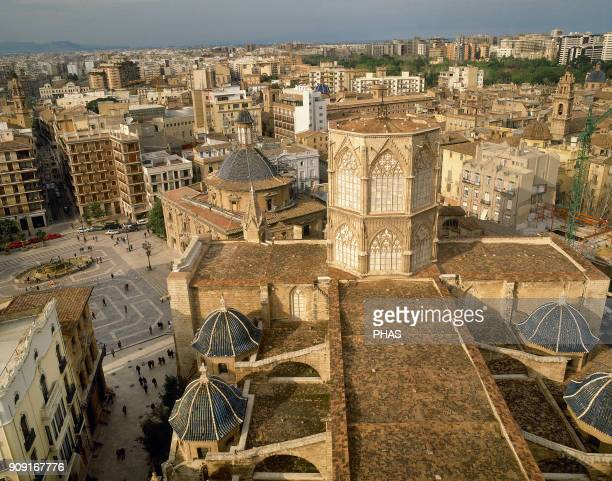 Valencia Valencian Community Spain Metropolitan Basilica Cathedral of St Mary Gothic style 13th14th century The origins of this cathedral date back...