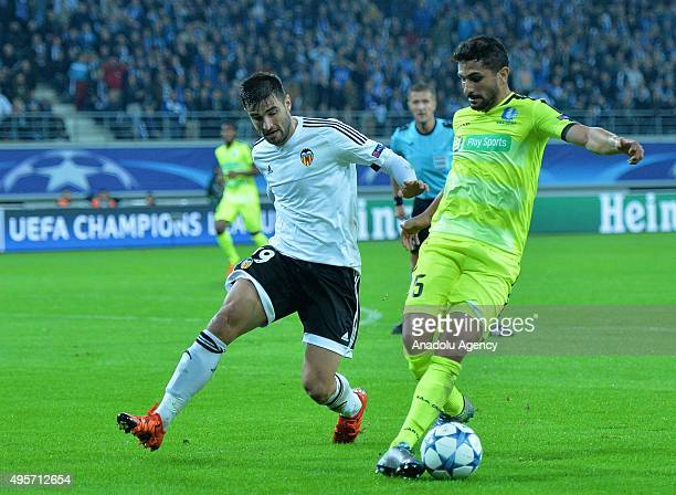 Valencia's Antonio Barragan in action during the UEFA Champions League Group H match between KAA Gent and Valencia at Ghelamco Arena on November 4...
