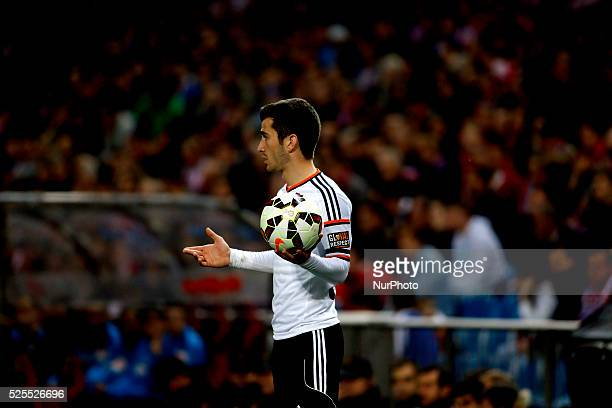 Valencia's Spanish Defender Jose Gaya during the Spanish League 2014/15 match between Atletico de Madrid and Valencia, at Vicente Calderon Stadium in...