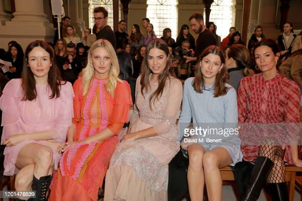 Valene Kane Georgia Hirst Amber Le Bon Danielle Copperman and Hedvig Opshaug attend the BORA AKSU show during London Fashion Week February 2020 at St...