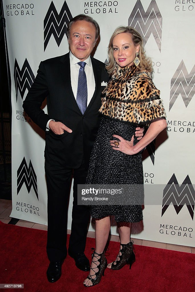 Valentin and Yaz Hernandez attend the 2015 Mercado Global Fashion Forward Gala at The Bowery Hotel on October 14, 2015 in New York City.