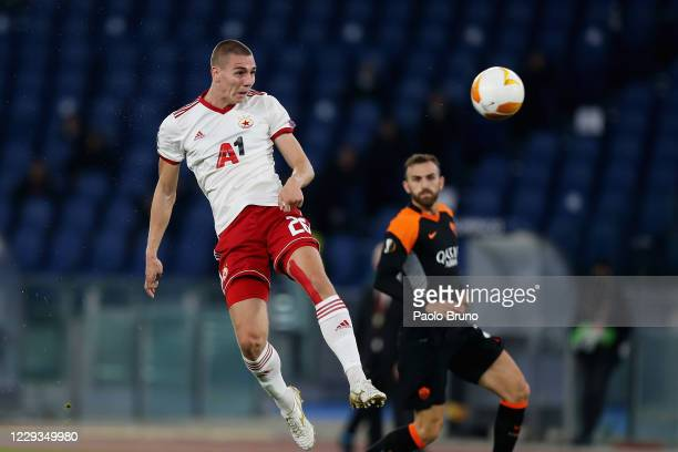 Valentin Antov of CSKA-Sofia in action during the UEFA Europa League Group A stage match between AS Roma and CSKA-Sofia at Stadio Olimpico on October...