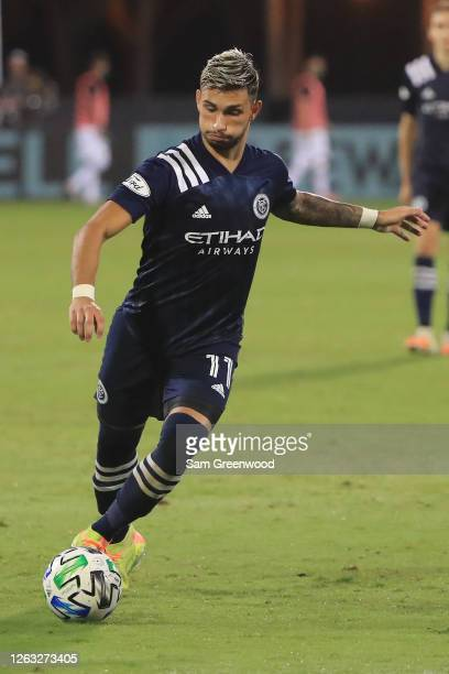 Valentin Castellanos of New York City controls the ball during a quarter final match of MLS Is Back Tournament between New York City and Portland...