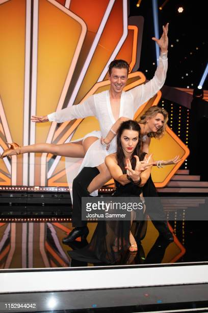 Valentin Lusin Renata Lusin and Ella Endlich are seen during the 10th show of the 12th season of the television competition Let's Dance on May 31...