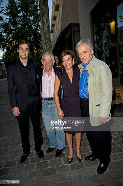 Valentin Montand a guest Carole Amiel and CostaGavras President de La Cinematheque francaise attend the 'Le Sauvage' screening at la cinematheque on...