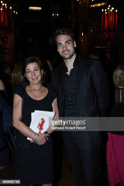 Valentin Montand and Carole Amiel attend La Nuit des Molieres 2017 at Folies Bergeres on May 29 2017 in Paris France