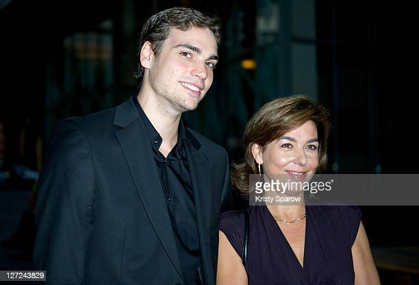 Valentin Montand and Carole Amiel attend the 'Le Sauvage' screening at la cinematheque on September 26 2011 in Paris France