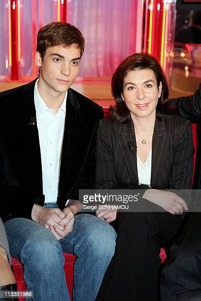 Valentin Montand And His Mother Carole Amiel On Vivement Dimanche Tv Show In Paris France On November 15 2006 Valentin Montand and his mother Carole...