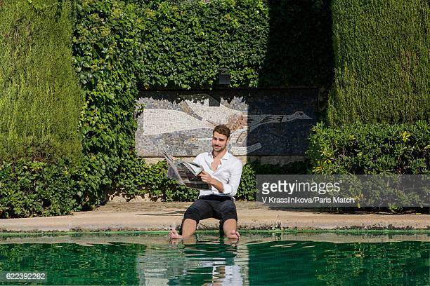 Valentin Montand is photographed for Paris Match on October 20 2016 in SaintPauldeVence France
