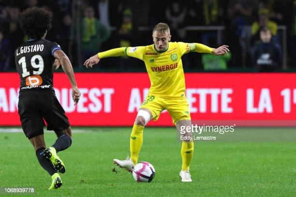 Valentin Rongier of Nantes during the French Ligue 1 match between FC Nantes and Olympique de Marseille on December 5 2018 in Nantes France