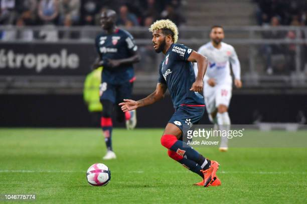 Valentin Rosier of Dijon during the Ligue 1 match between Amiens and Dijon at Stade de la Licorne on October 6 2018 in Amiens France