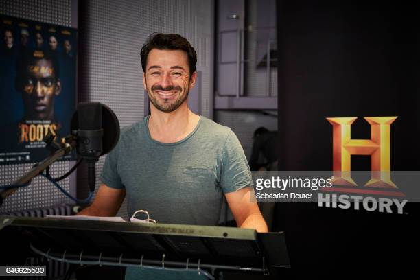 Valentin Stilu is seen at the dubbing studio for the new HISTORY drama series 'Roots' on February 14 2017 in Berlin Germany