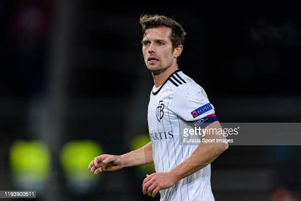 Valentin Stocker of Basel runs in the field during the UEFA Europa League group C match between FC Basel and Trabzonspor at St. Jakob-Park on...