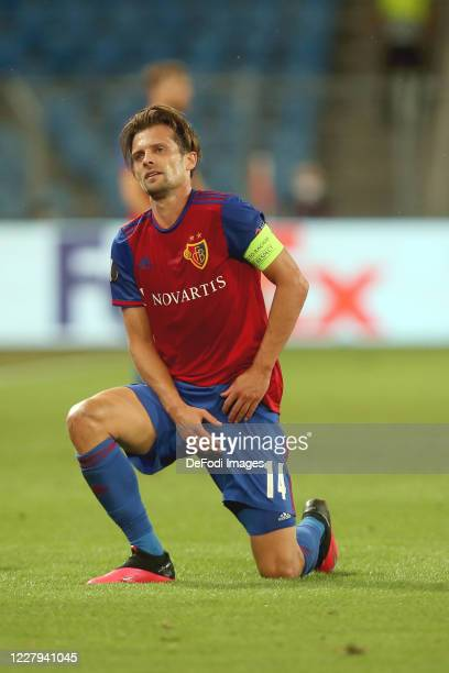 Valentin Stocker of FC Basel 1893 Looks on during the UEFA Europa League round of 16 second leg match between FC Basel and Eintracht Frankfurt at St....