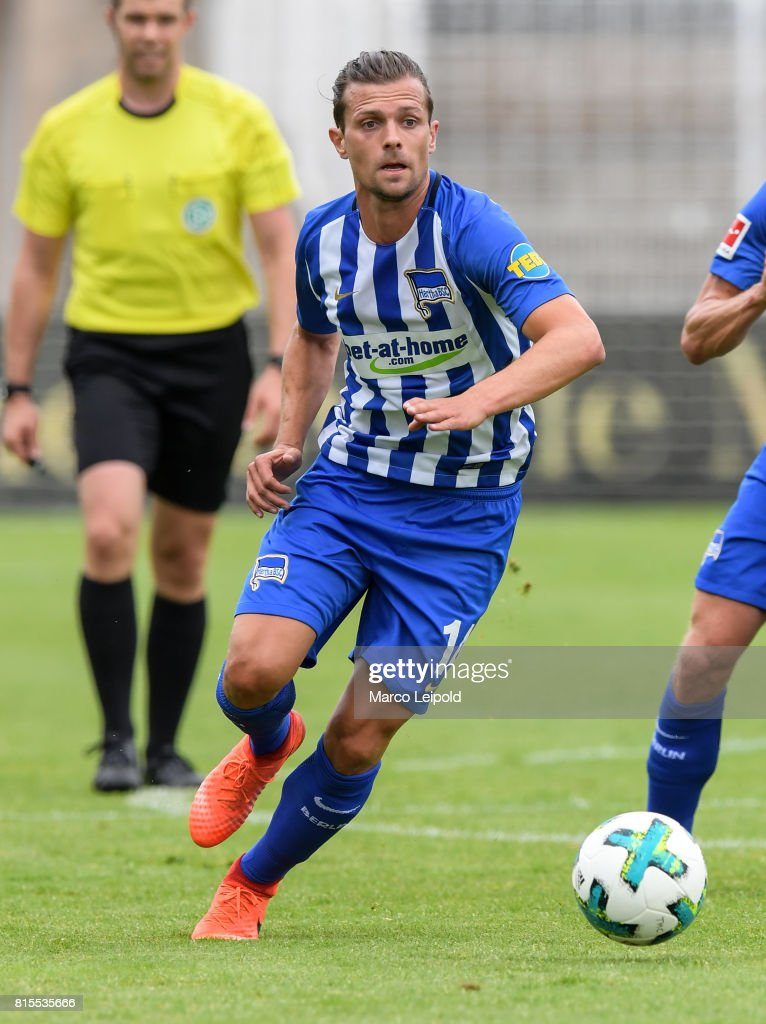 Valentin Stocker of Hertha BSC during the test match between Carl-Zeiss Jena and Hertha BSC on july 16, 2017 in Jena, Germany.