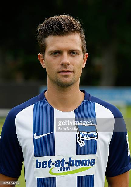 Valentin Stocker of Hertha BSC poses during the Hertha BSC Team Presentation on July 12 2016 in Berlin Germany