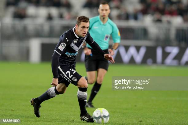 Valentin Vada of Bordeaux in action during the Ligue 1 match between FC Girondins de Bordeaux and Strasbourg at Stade Matmut Atlantique on December 8...
