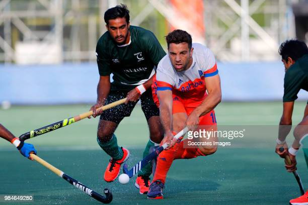 Valentin Verga of Holland during the Champions Trophy match between Holland v Pakistan at the Hockeyclub Breda on June 26 2018 in Breda Netherlands