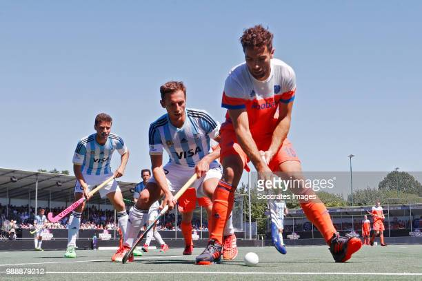 Valentin Verga of Holland during the Champions Trophy match between Holland v Argentinia at the Hockeyclub Breda on July 1 2018 in Breda Netherlands