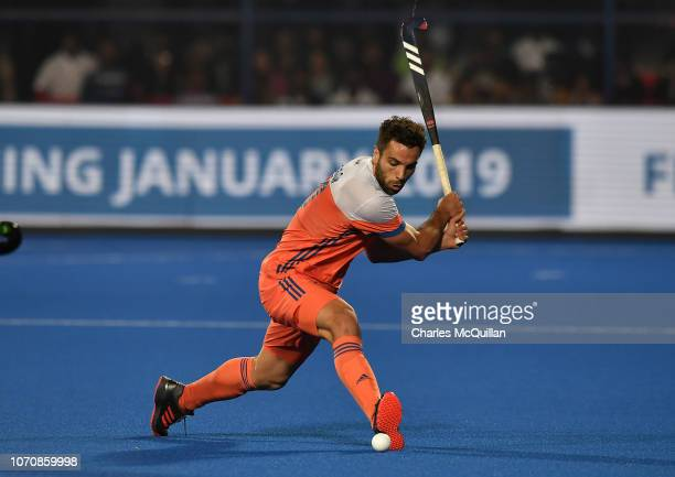Valentin Verga of Netherlands during the FIH Men's Hockey World Cup Pool D match between Netherlands and Pakistan at Kalinga Stadium on December 9...