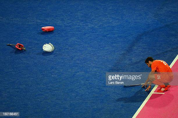 Valentin Verga of Netherlands looks dejected after their defeat against Germany in the Men's Hockey gold medal match on Day 15 of the London 2012...