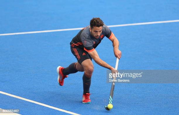 Valentin Verga of the Netherlands in action during the semifinal match between England and the Netherlands on day eight of the Hero Hockey World...