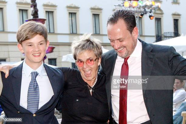 Valentin von SchoenburgGleichau with his aunt Gloria von Thurn und Taxis and his father Alexander von SchoenburgGlauchau during the 'God save the...