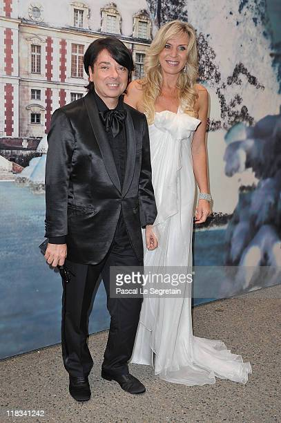 Valentin Yudashkin and guest attend 'The White Fairy Tale Love Ball' in Support Of 'The Naked Heart Foundation' at Chateau De Wideville on July 6,...