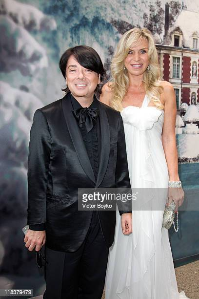 Valentin Yudashkin and Marina Yudashkina attend'The White Fairy Tale Love Ball' in Support Of 'The Naked Heart Foundation' at Chateau De Wideville on...