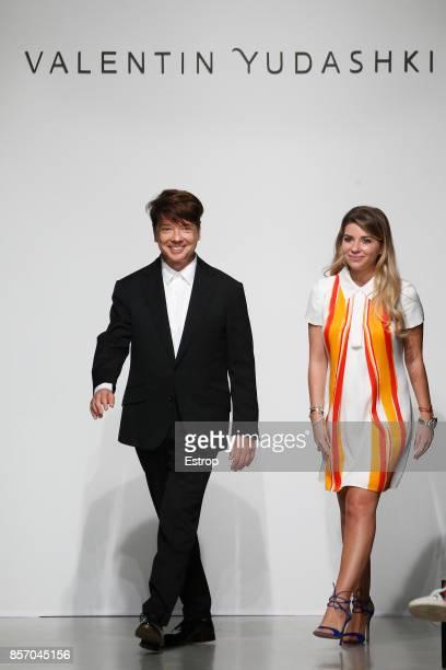 Valentin Yudashkin at the Valentin Yudashkin Paris show as part of the Paris Fashion Week Womenswear Spring/Summer 2018 on October 2, 2017 in Paris,...